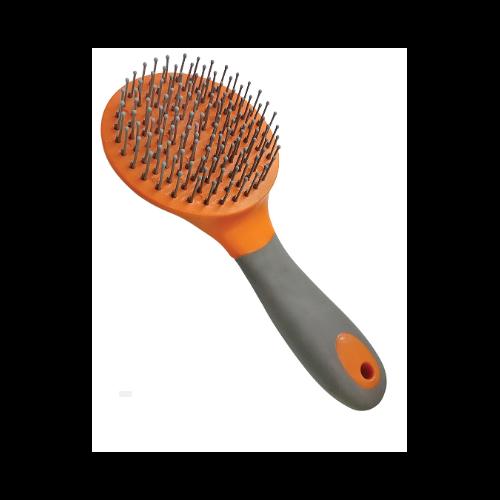 Mane and Tail Brush orange/grey at Bowral Coop