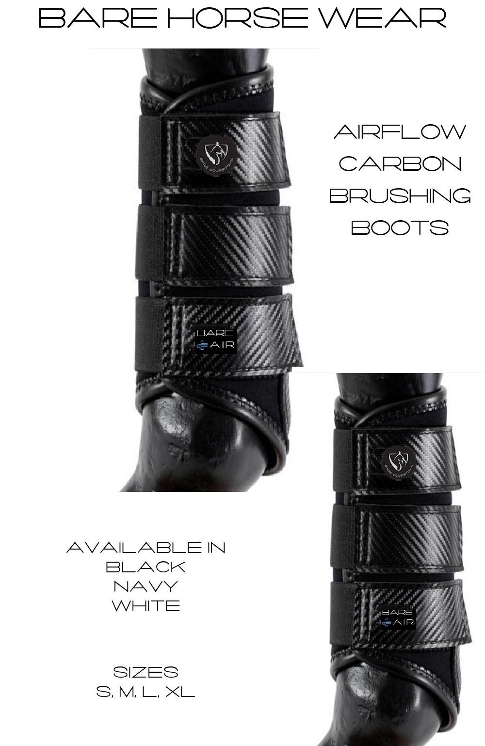 BARE AIR Carbon Airflow Boots - Black L at Bowral Coop
