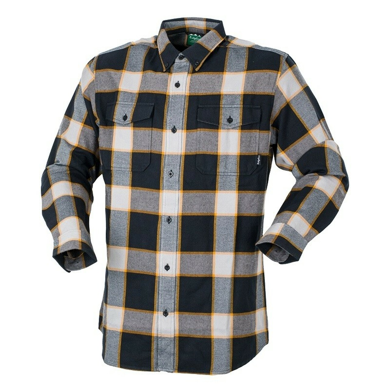 Ridgeline Backcountry Checked Shirt Yellow and Black 2XL at Bowral Coop