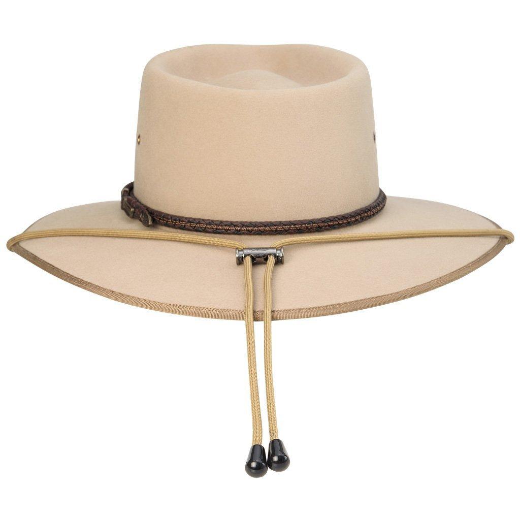 Akubra Hat Chin Strap Tan at Bowral Coop
