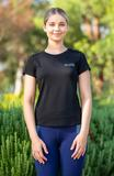 BARE Emblem Tee - Black and Silver XXL at Bowral Coop