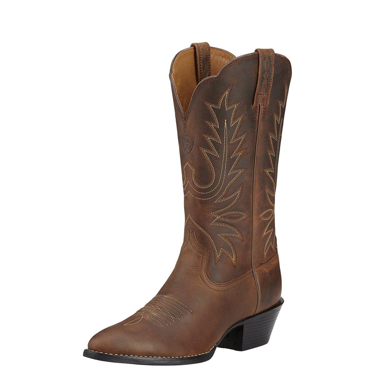 Heritage Western R Toe Women's Boot Distressed Brown 8.5 at Bowral Coop