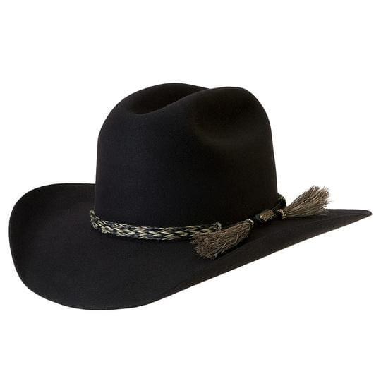 Akubra Hat Rough Rider Black Size 61 at Bowral Coop