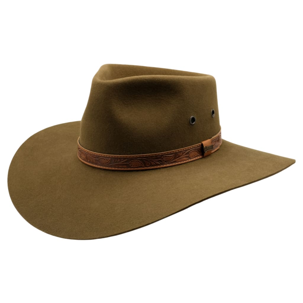 Akubra Hat Territory Khaki Size 56 at Bowral Coop
